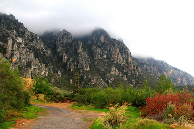 Beshparmak Mountains Trekking Trail in the winter, Karmi Village, Kyrenia, Northern Cyprus