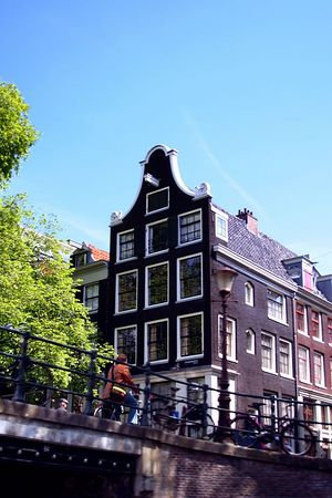 An example of the interesting architecture in Amsterdam