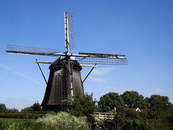 There are only about 1000 working windmills left in the Netherlands. This is one of them.