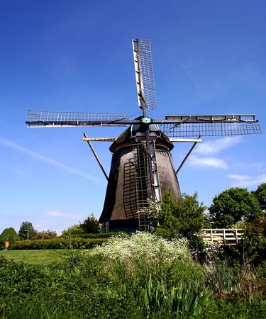 Windmill (vertical) Amsterdam, Netherlands - Colour Print