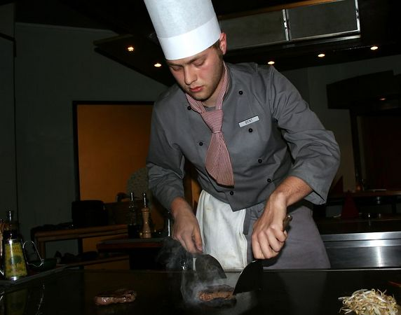 We stayed two days in Copenhagen, our last port. On the last night we at at a Japanese restaurant where the food is prepared in front of you. This is the Tepenyaki chef.