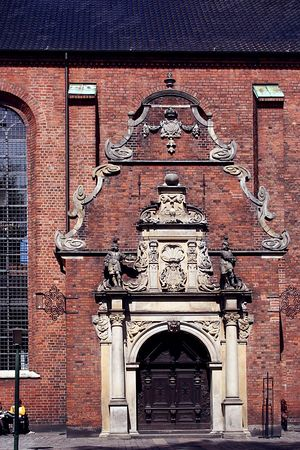 A church door in Copenhagen
