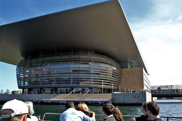 A closer view of the new opera house