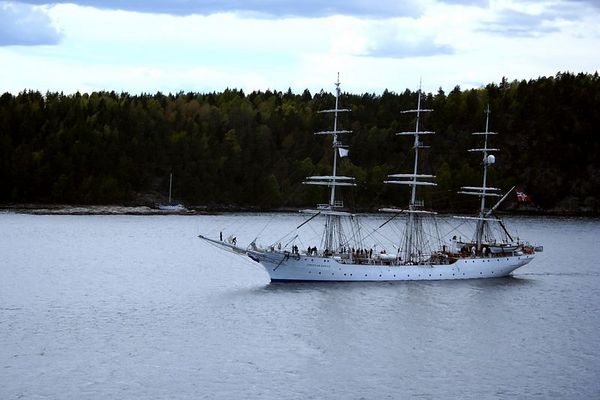 We passed this sailing ship as we navigated the fjord