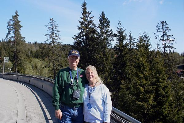 Jack and Sue at Holmenkollen Hill