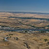 Panorama of Lewiston-Clarkston, ID from overlook