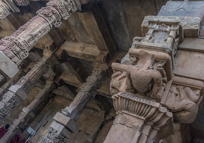 Detail of one of the buildings at the Qutub complex.