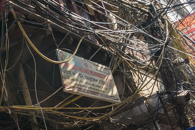 This maze of electrical wires is representative of what you will see thoughout India.
