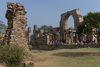 A view of some of the ancient and medieval ruins at the Qutub complex.
