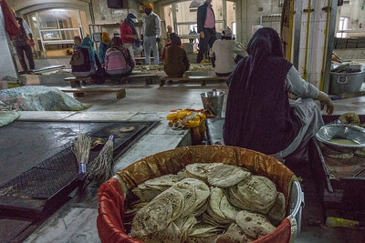 Kitchen at Gurudwara Bangla Sahib