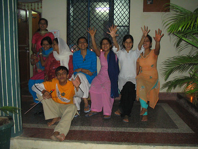 Owners of Yaron's guest house on Diwali.