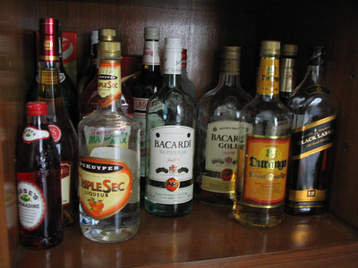A stocked bar.  I don't really car about this.  But it looks so normal.