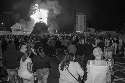 Crowds at the Sandy Row bonfire