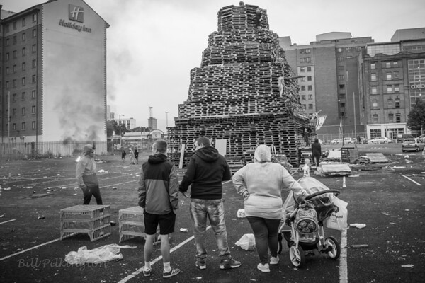 Sandy Row, Belfast. 11th night bonfire.