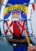 Unique artwork on the drums of a Northern Irish protestant marching band The Red Hand Defenders of Downpatrick
