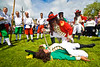 "The Battle of the Boyne between King William of Orange and King James is reinacted at the annual ""Sham Fight"" Pageant celebrated at Scarva Co. Down on 13 July every year (4)"