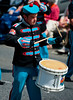 A drummer for the dollingstown star of the north Band, during the annual 12th of July Orange Order march through Waringstown, County Down, Northern Ireland 2