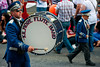 A drummer for the Kilmore Flute Band, during the annual 12th of July Orange Order march through Waringstown, County Down, Northern Ireland