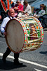 A lambeg drummer during the annual 12th of July Orange Order march through Waringstown, County Down, Northern Ireland 3