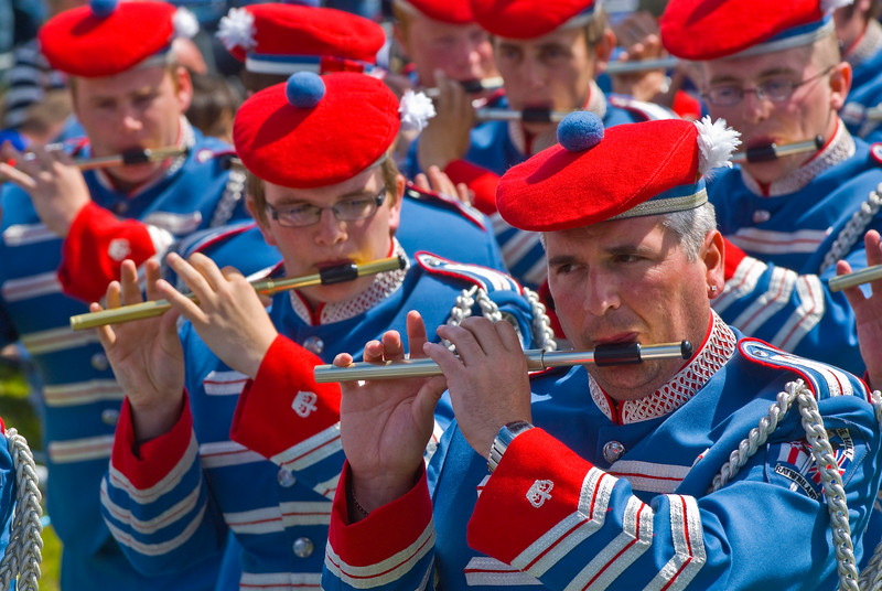 """Pride of the Hill Rathfriland band at the annual """"Sham Fight"""" Pageant celebrated at Scarva Co. Down on 13 July every year"""