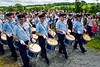 "Blackskull Orange and Blue band marching at the annual ""Sham Fight"" Pageant celebrated at Scarva Co. Down on 13 July every year (2)"
