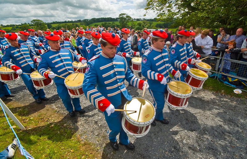 """Pride of the Hill Rathfriland band marching at the annual """"Sham Fight"""" Pageant celebrated at Scarva Co. Down on 13 July every year"""
