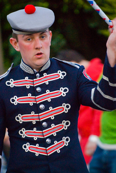 Drummer in the Clogher Protestant Boys Band taking part in a traditional march in Donaghcloney, Northern Ireland