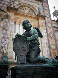Little Angel. Basilica di Santa Maria Maggiore. Bergamo alta