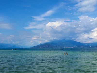 Blue lake. Sirmione. Lago di Garda
