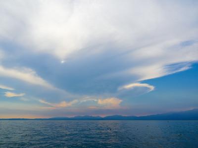 Lazise sunset. Lago di Garda