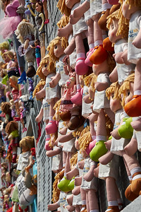 Wall of Dolls. Milan