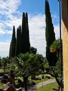 View of Garda. Vittoriale degli Italiani. Gardone Riviera