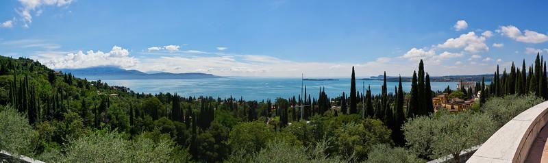 A View to Lake Garda. Vittoriale degli Italiani. Gardone Riviera