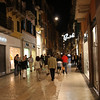 Verona - even in the evenings, there were lots of people in the shopping areas.