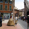 Verona - one of the street entertainers in Piazza Bra.