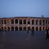 Verona - the large Roman Ampitheatre in Piazza Bra.  Large Opera productions are held here in July & August.