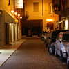 Verona - a side street near the Hotel (Chinese food restaurant on the left side).