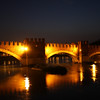 Verona - a night view of one of the bridges near Castelvecchio (reportedly this is a favourite spot for wedding photos).