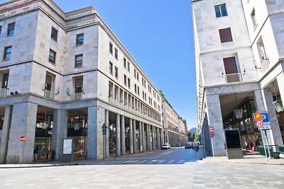 Fascist architecture on Via Roma in Turin