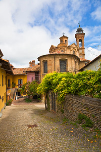 A street in Neive, a town in the wine area of the Piedmont