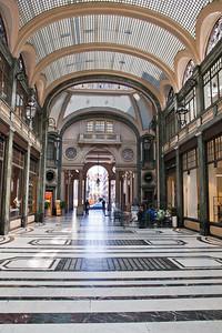 An arcade in Turin