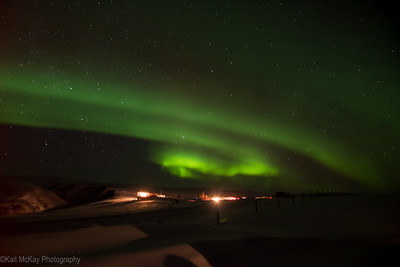 Northern Lights in Iceland by Kait McKay Photography (at Glacier View Guesthouse in Hrífunes)