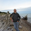 Dick by the driftwood on Whitefish Point