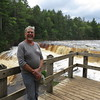 Dick at the overlook for the Lower Falls