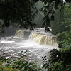 Waterfall on the Presque Isle River.