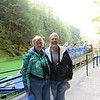 Susan and Dick by our tour boat through the Wisconsin Dells.