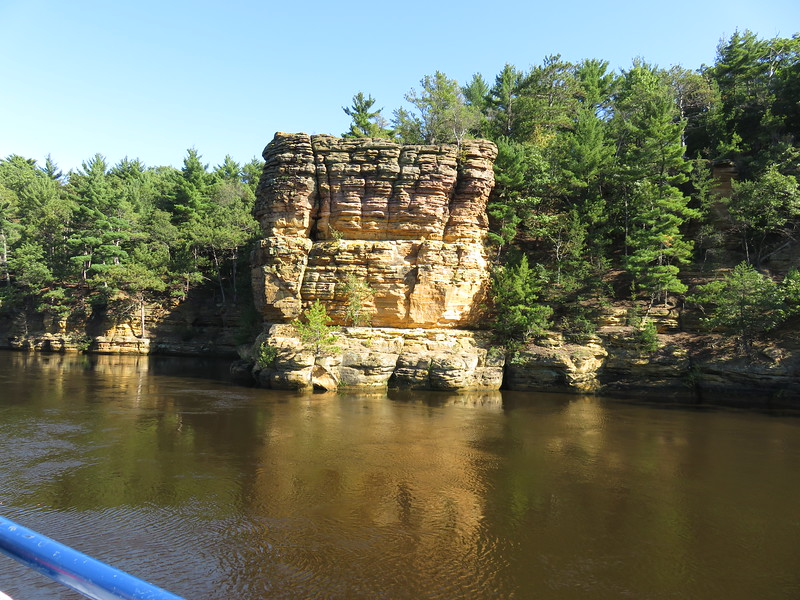 Wisconsin Dells rock formation from the boat trip.