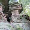 Rock formations in the Wisconsin Dells.