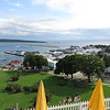 View of Mackinac harbor from the fort