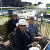Susan, Jean and Walt on the ferry at Sault Ste Marie to visit the locks.